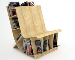 Chair and bookcase together