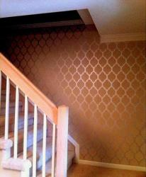 paint stencil textured wall
