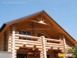 Bamboo exterior elevation for rustic style house