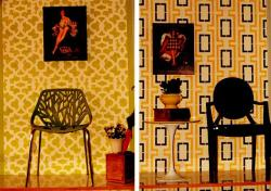 study room wall painting stencil design