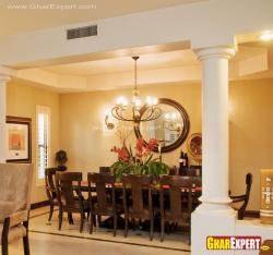 10 seater wooden dining table in spacious house