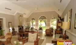 Ceiling design and curved door windows