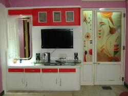 TV unit and wall decoration