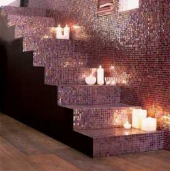 Different look of stairs with mosaic style