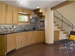 Wooden Finish In kitchen