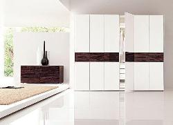 White and Glossy bedroom wardrobe design