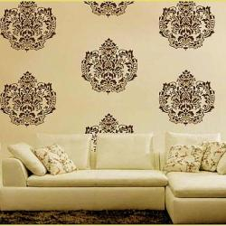 wall stencil pattern design for living room