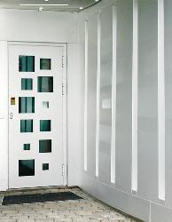 Aluminium Door Design with glass panel.