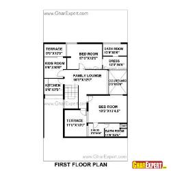 House Plan for 42 Feet by 75 Feet plot (Plot Size 350 Square Yards)
