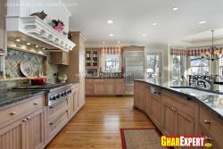 Spacious kitchen design for an extra large space