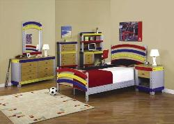 Multicolor Furniture in Teen Bedroom