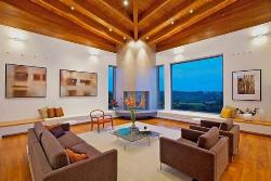 Living Room Design with Wood