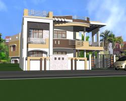 home 3D model design with a beautiful First floor patio