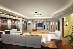Ceiling and Lighting arrangement for contemporary and modern Living Room.