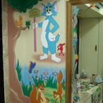Cartoon pictures paintings for kids room