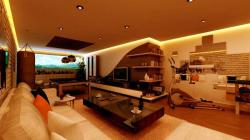 games room lcd unit design
