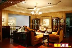 traditional furniture for drawing room with handicrafted decoratives