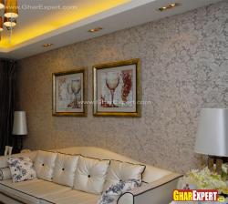 Sobber wallpaper toned up with living room furniture
