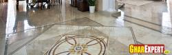 medallion marble flooring in lobby