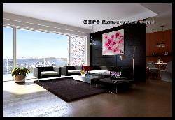 Drawing Room design with Big Window