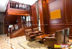 wooden interior in drawing room on GF