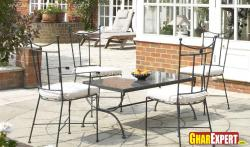 wrought iron furnture for outdoor seating