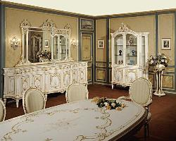 French Dining Room Area with Wood Design