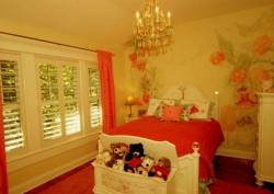 paint pattern floral design for a girls bedroom