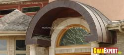 Arch design around window