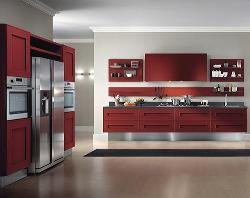 Modern Storage system red finish