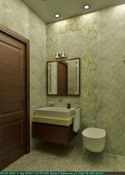 Shades of Gray in a bathroom design rendering