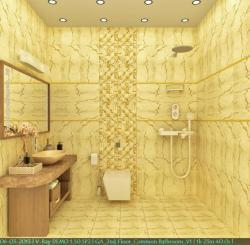 Modern bathroom decor using tiles   rendering in 3D