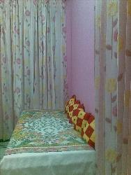 Guest Room with beautiful Curtains