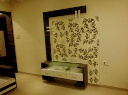 lcd unit modern design with floral pattern