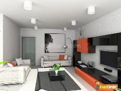 Modern Living Room with Plazma