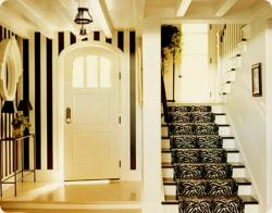 black and yellow wall strips paint