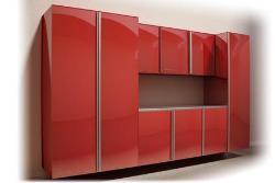 Modern Storage system red finish second view