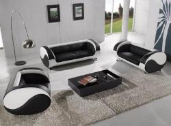 black and white sofaset wow its an exclusive color and contrast and a unique design