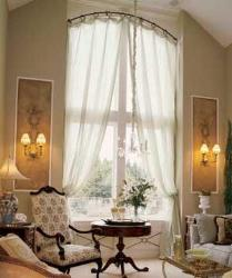 arched window sheer