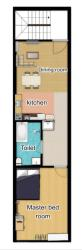 House Plan for 12 Feet by 60 Feet plot (1st floor)(Plot Size 720 Square feet)