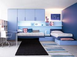 Teens room for Bright blue theme