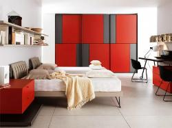 Modern teen bed with stylish Cabinet design