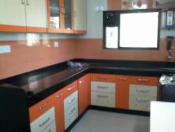Sample KITCHEN CABINET picture with black granite countertop