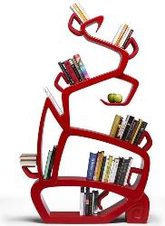 bookshelf in tree design