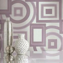 wall paper square and round pattern design