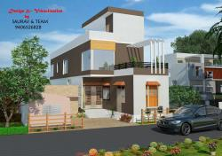 """20""""x50""""feet house front elevation"""