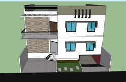 """40""""x40""""feet house front elevation"""