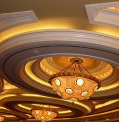 Lovely ceiling design and colors for royal look