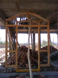 main door under construction