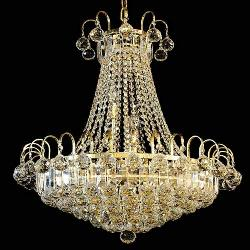 Crystal Chandeliers with golden finish
